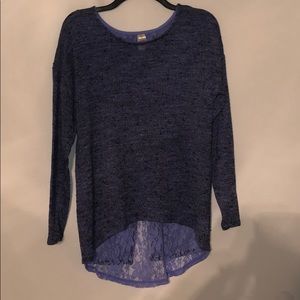 Lavender/purple open back sweater